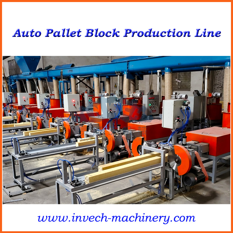 Fully Automatic Wood Sawdust Pallet Feet Production Line